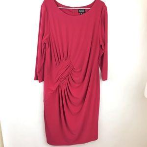 Adrianna Papell Size 16W Pink Dress